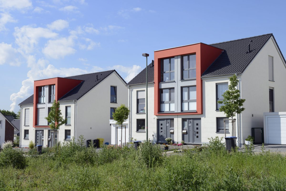 Contemporary twin houses.